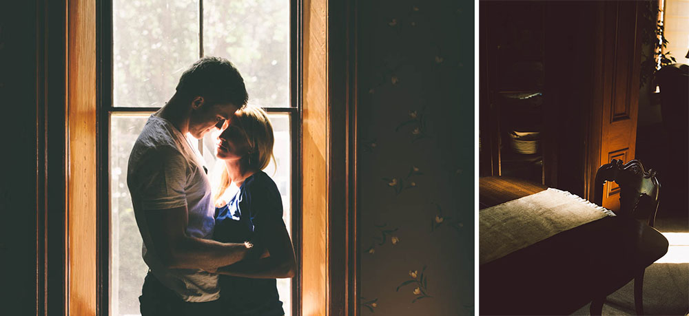 Engagement Photography in an Old Home - by Briana Morrison