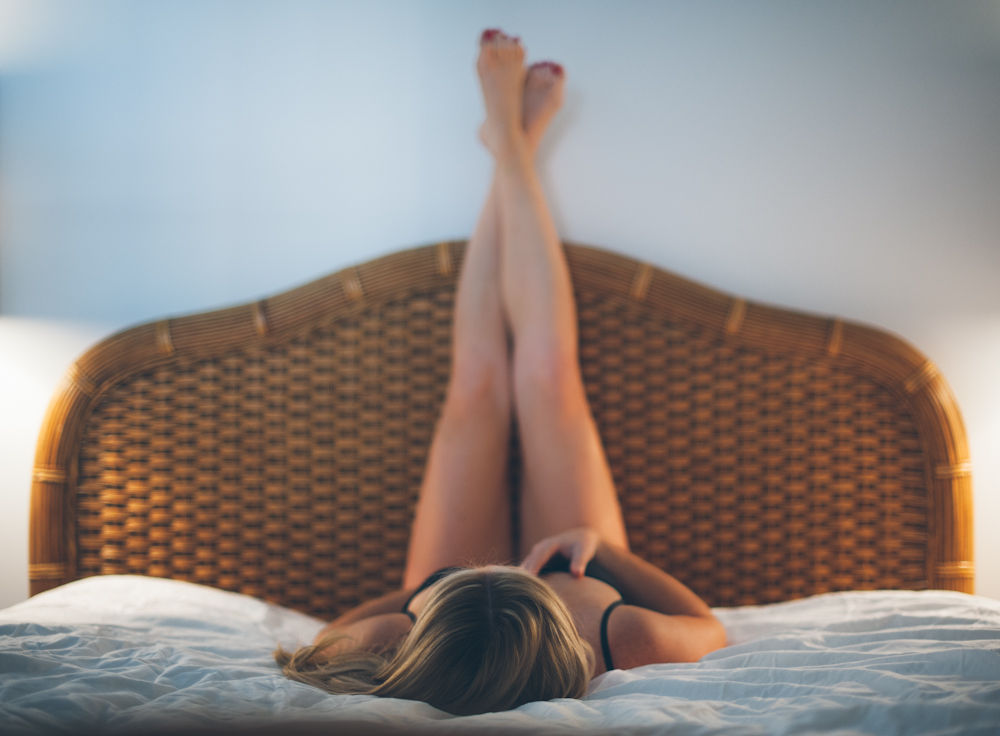 Traditional posting with a Modern Boudoir twist.  Photography by Briana Morrison