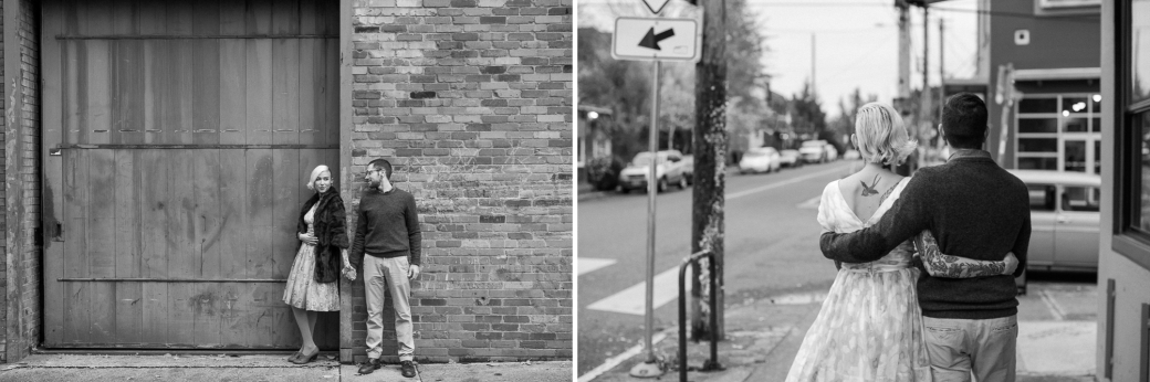 Cassandra and Ian in Downtown Portland - Photography by Briana Morrison
