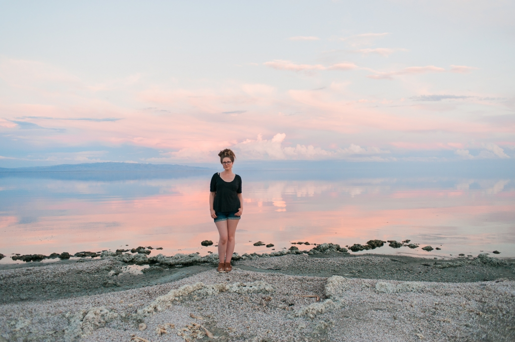 Briana Morrison at Salton Sea in California just days after her 31st birthday suffering from a terrible head cold.