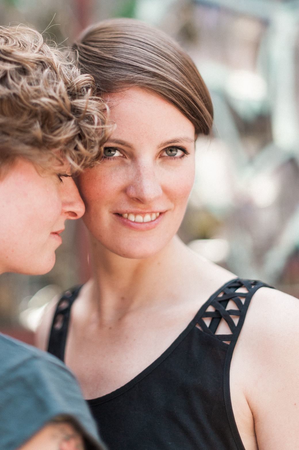 Ana & Stefanie - A Lesbian Portrait Session in Berlin photographed by LGBT Portland Wedding Photographer Briana Morrison