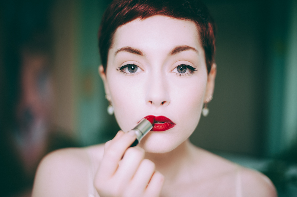 A vintage boudoir session with Jade Sheldon-Burnsed in Portland Oregon by Portland Boudoir Photographer Briana Morrison