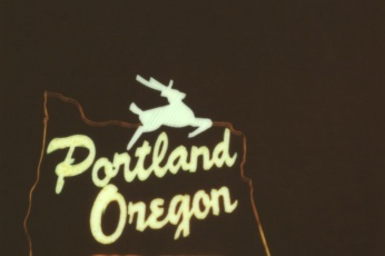 Portland Sign on Impossible Project Film
