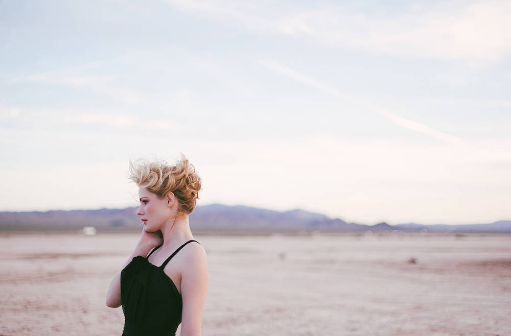 Kayla in the Las Vegas desert - A dry lake bed - For Film Season 2 Photography by Briana Morrison