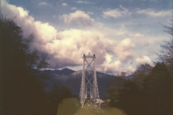 Polaroid photograph of the Lion's Gate Bridge in Vancouver, BC by Briana Morrison