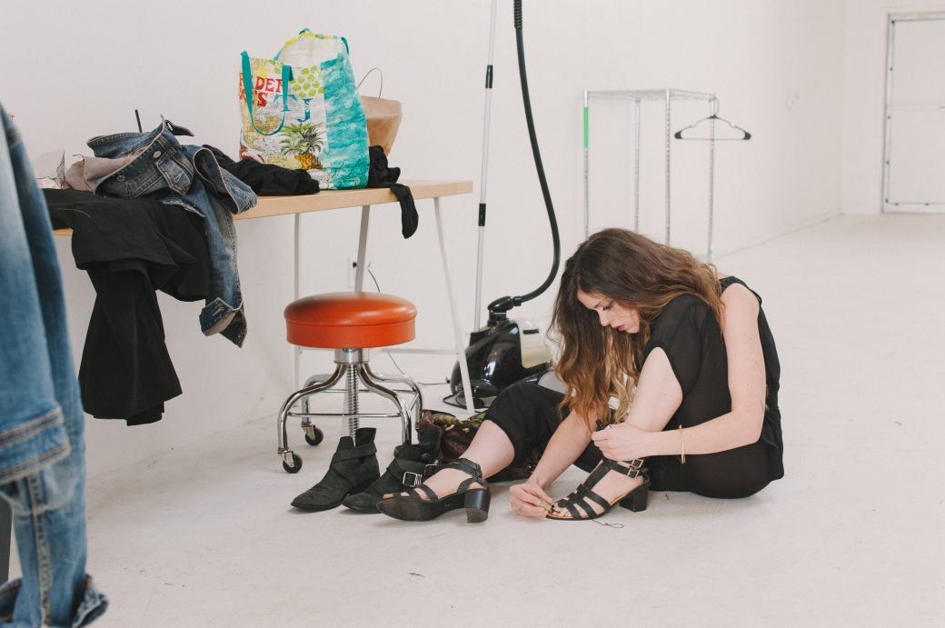 Behind the scenes during the Altar SS15 and Iron Oxide Designs Photo Shoot by Briana Morrison