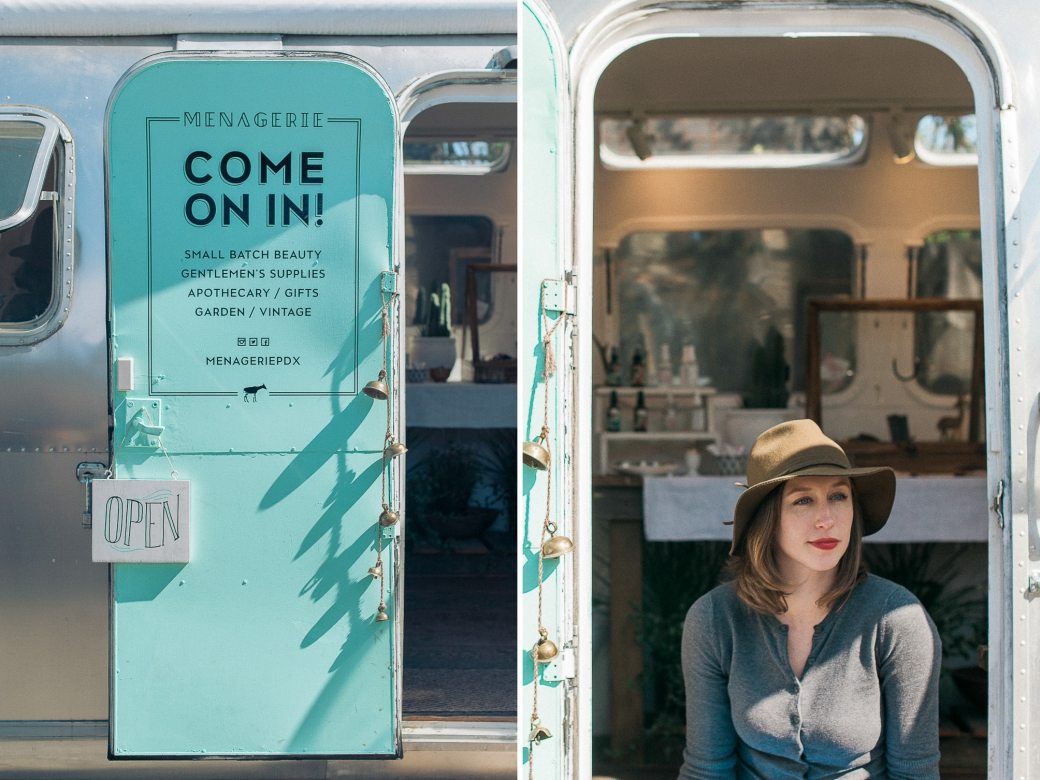 Casey Shagena and her shop, Menagerie.  Photographed by Briana Morrison