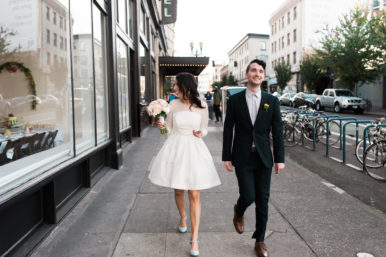 Bride and groom at the Ace Hotel Portland by Ace Hotel wedding photographer Briana Morrison
